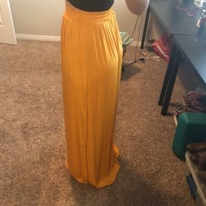 Forever 21 - Marigold Double Slide Slit Maxi Skirt